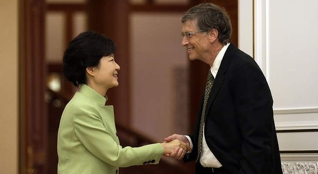 Bill Gates fyen presidenten koreane