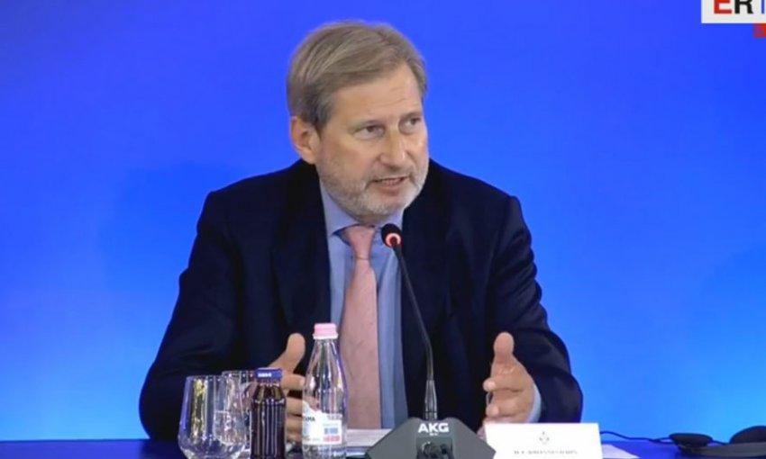 Komisioneri Johanes Hahn: Në vitin e ardhshëm duhet të punohet me një seriozitet të tillë