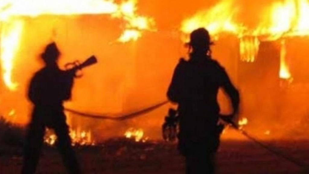 Zjarr i madh në Shkup