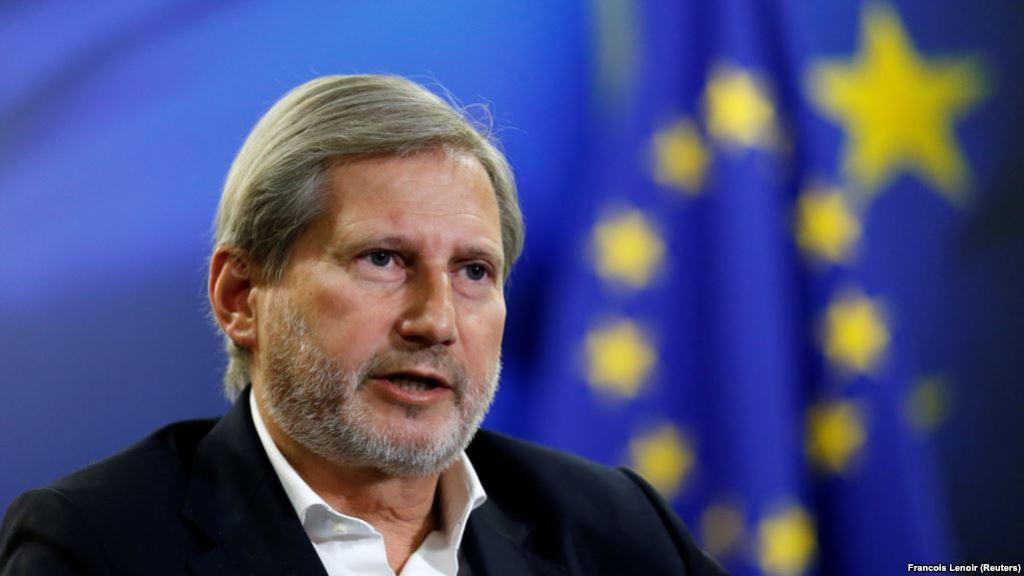 Në Kosovë sot, Johannes Hahn