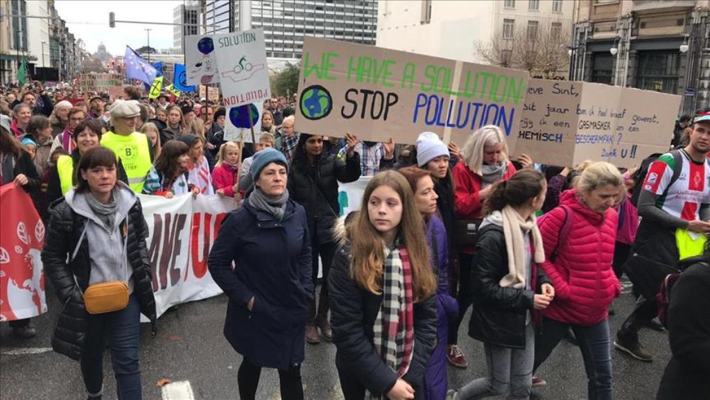 Bruksel, protestë për mjedisin
